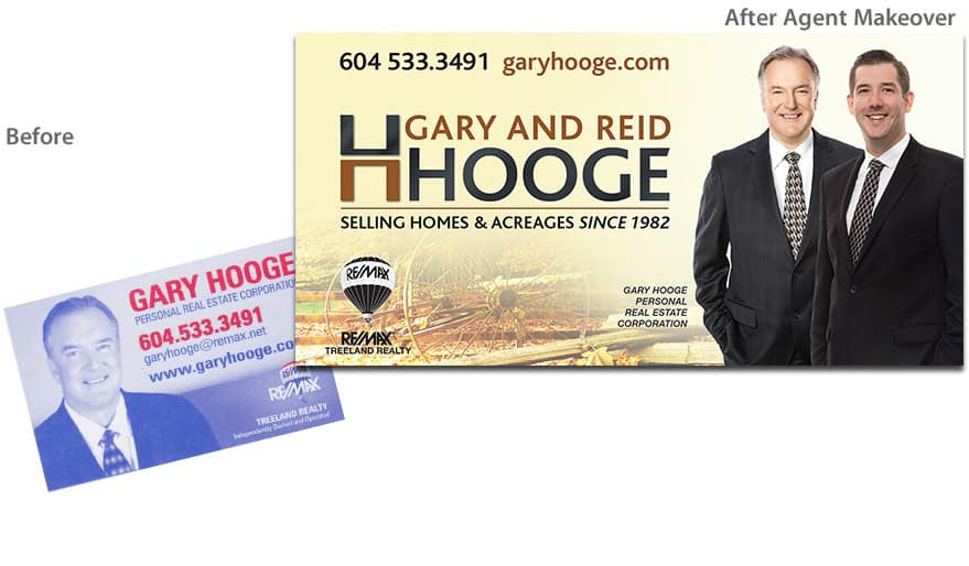Before & After Agent Makeover - Gary & Reid Hooge